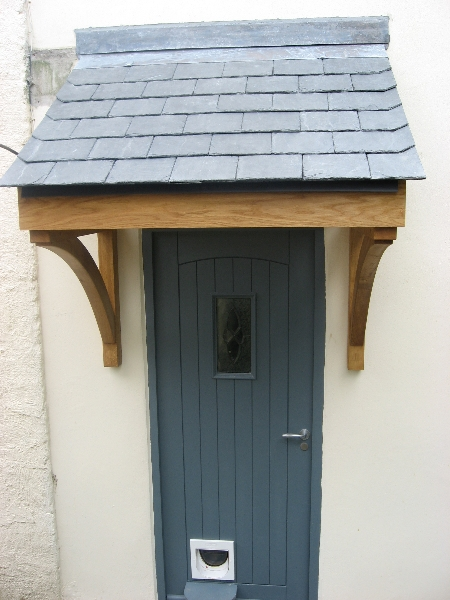 Quality Woodworks 187 Oak Door Canopy And Front Door