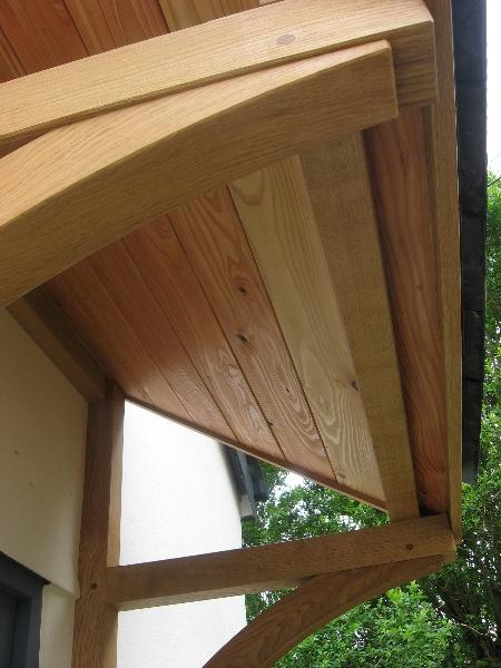 Quality Woodworks 187 Oak Door Canopy And Front Door