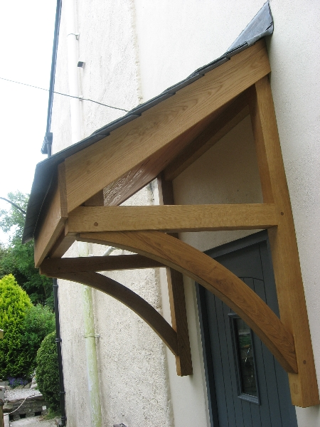 Door canopy & Quality Woodworks » Oak door canopy and Front door